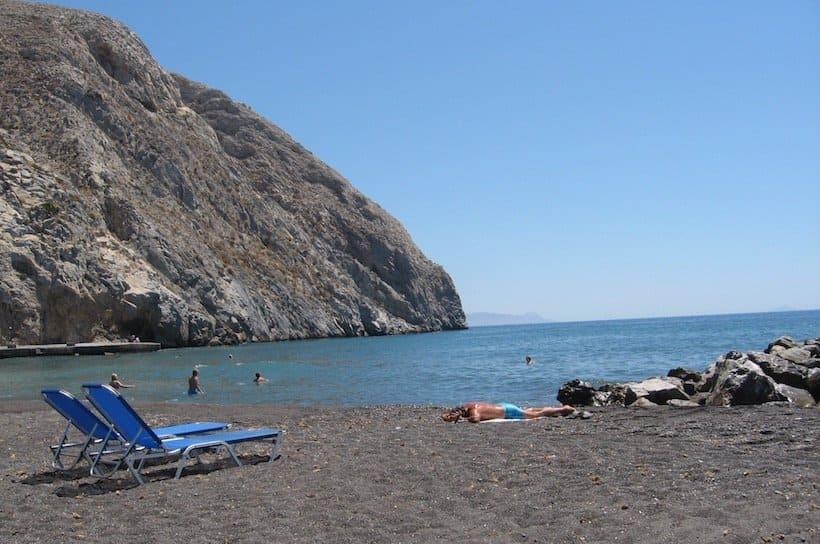 Santorini nude beach