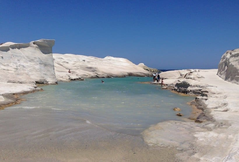Sarakiniko beach, Greece
