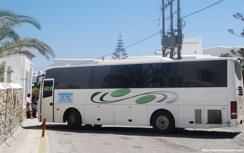 Mykonos beach bus