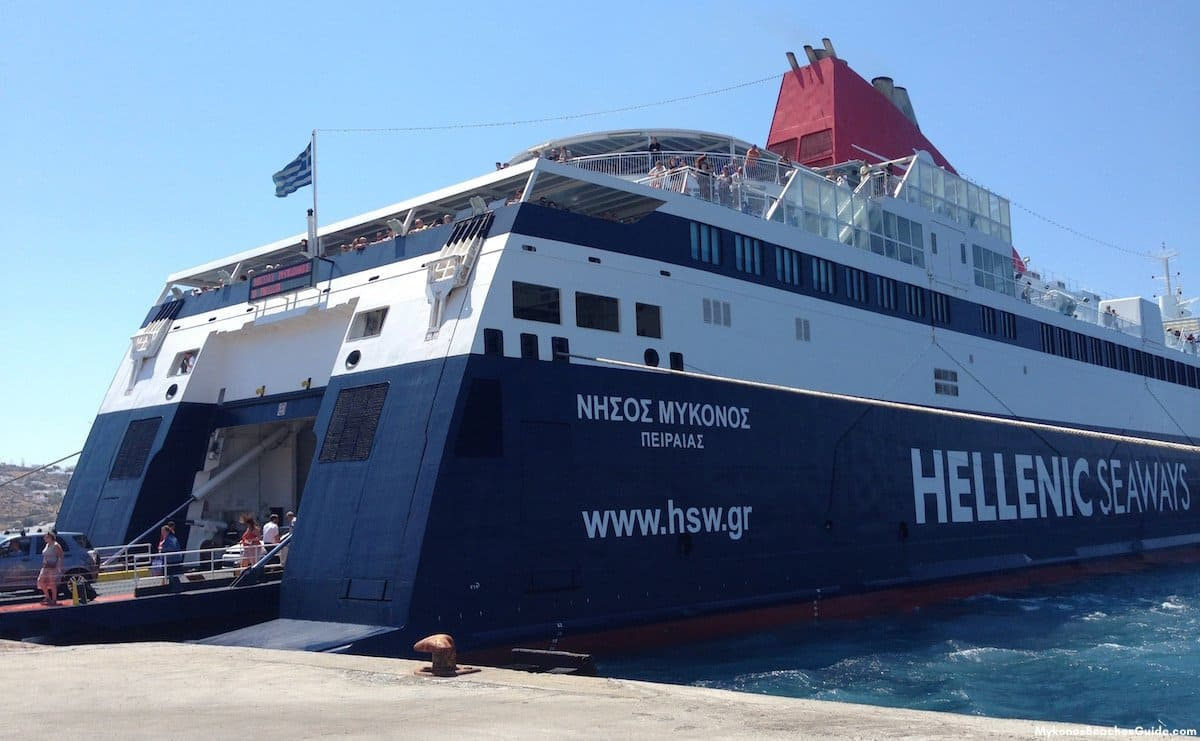 Ferries To And From Mykonos Greece Tickets And Port