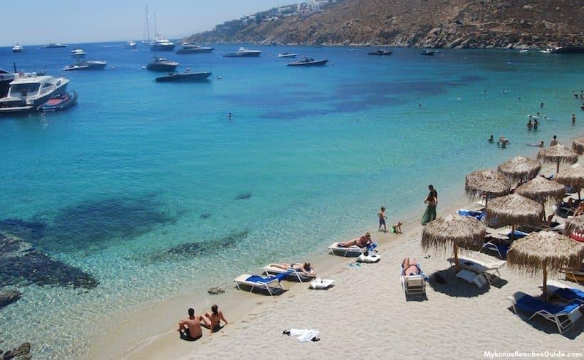 Best Island Beaches For Partying Mykonos St Barts: PSAROU BEACH, Mykonos
